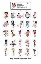 30 Personalized Return Address Labels Betty Boop Buy 3 get 1 free(mo8)