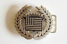 Famous Stars & Straps Flag Chrome Belt Buckle