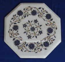Coffee Table Top Lapis Marquetry Marble Inlay Pietra Dura Arts Decor Gifts