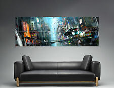 BLADE RUNNER NIGHT STREET CITY Panorama  Poster Grand format 168cm X 59,4CM