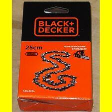 Black & Decker A6125CSL Ersatzkette 25 cm für Kettensäge GKC1825L20 - Neu