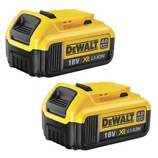 Genuine Dewalt DCB182 18v 4.0Ah XR Li-Ion Lithium Slide Battery Twin Pack