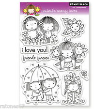 New Penny Black MIMI'S MANY LOVES Clear Stamp Valentine's Hearts Flowers Friends