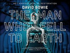 DAVID BOWIE  THE MAN WHO FELL TO EARTH  LAMINATED MINI POSTER  STYLE 2