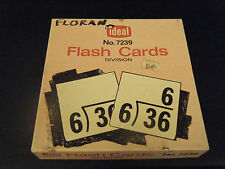 Vintage Ideal No. 7239 Division Flash Cards