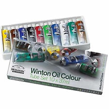 Winsor & Newton Winton Oil Paint Set 10 x 37ml Art Artist Canvas Tube