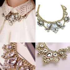 Fashion Jewelry Charm Crystal Pendant Choker Chunky Statement Bib Chain Necklace