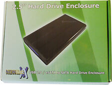 "USB 2.0 / 3.0 / eSATA to SATA 2.5"" HDD Laptop Hard Disk Drive Enclosure NEW 880"