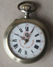 ANTIQUE SWISS OPEN CASE POCKET WATCH SYSTEME ROSKOPF AINE PATENT