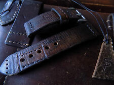 Hand made 24mm Swiss Leather Ammo watch strap. Swiss cross Pam tubes