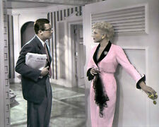 "WILLIAM HOLDEN & JUDY HOLLIDAY BORN YESTERDAY1950 8x10"" HAND COLOR TINTED PHOTO"