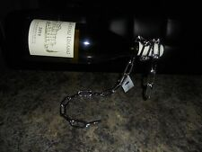 WINE BOTTLE HOLDER CHAIN DESIGN GRAVITY DEFYING NEW WITH TAGS