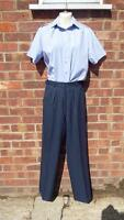 NEW Royal Air Force womans WRAF RAF light weight barrack Blue Grey No2 Trousers