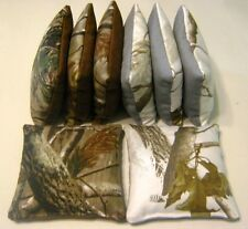 8 REALTREE CAMO CORNHOLE BEAN BAGS ***TOP QUALITY HANDMADE REGULATION BAGS***