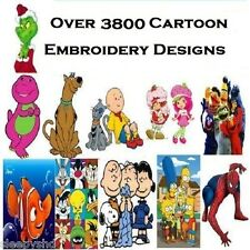 3800+ Cartoon Embroidery Machine Pattern Designs Brother Baby Lock PES