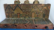 1880 Antique Wooden Mother Goose Crandall wood bowling pop up game target ball