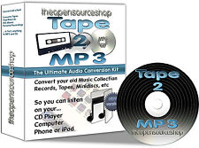 Tape 2 MP3 - Transfer Old Cassette Tapes, MiniDiscs to MP3 or CD & iPod - 3m Kit