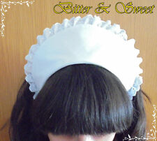 White Rounded Maid Hat-Lolita-Maid-Cosplay-Halloween-Cocktail-Costume-Cofia-Chef