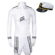 Sexy Adult Mens Navy Outfit Uniform Lingerie Halloween Cosplay Costume Outfit