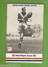 #D173. 1971 CENTRAL DISTRICT FOOTBALL CLUB, ADELAIDE, AANUAL REPORT