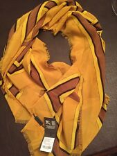 Burberry Mustard Yellow Silk Scarf 110x110cm New With Tags Authentic