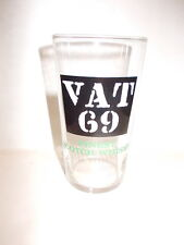 Retro collectable Vat 69 finest scotch whisky glass