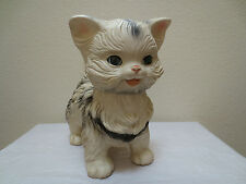 Vtg, USA 1960 EDWARD MOBLEY CAT-KITTEN Rubber Squeeze Toy Swivel Head Eyes Close