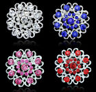 2015 Wedding Bridal Bonquet Full Crystal Rhinestone Heart Charm Brooch Pin XICA