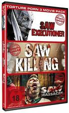 Torture Porn 3 Movie Pack - Saw Executioner / Saw Killing / Saw Massacre 2 UNCUT