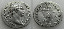 Nice Collectable Silver Roman Trajan Denarius coin - Trophy - Shields & Spears