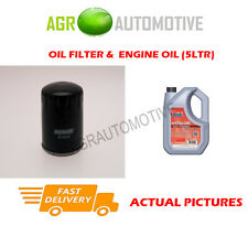 PETROL OIL FILTER + FS 5W40 ENGINE OIL FOR PEUGEOT 806 2.0 121 BHP 1998-00