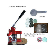 """Triangle Badge Button Maker 1"""" &1000 Buttons & Cutter Christmas Gift Key-chains"""