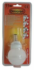 Omicron Mini Globe 11W Energy Saving Compact Fluorescent Light B15 2700K 220V