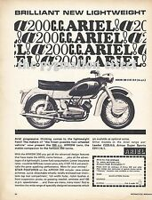 Ariel Arrow 200 Motorcycle - Original 1964 Single-Page Vintage Magazine Advert