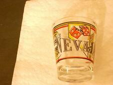 VINTAGE NEVADA SOUVENIR SHOT GLASS DICE, SLOT MACHINE, CARDS TAIWAN (88)