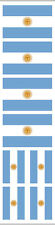 40 Stickers: Argentina Flag, Argentinian Party Favors, Decals