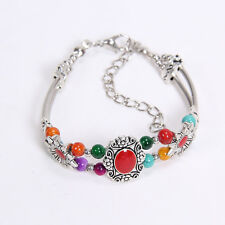 NEW diy fashion beaded Tibetan silver Colorful  bracelet  free shipping S155