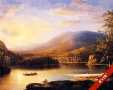 LOCH KATRINE STIRLING SCOTLAND AT SUNSET LAKE PAINTING ART REAL CANVAS PRINT