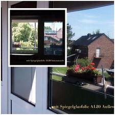 6,51€/m² Fenster Spiegelfolie 2 m x76 cm Rollenbreite UV Sichtschutz Blendschutz