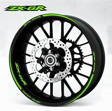 Kawasaki ZX6R green Wheel Rim Decals Stickers