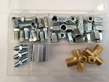 ASSORTED BOX BRAKE PIPE FITTINGS UNF