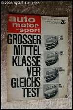 AMS Auto Motor Sport 26/63 Fiat 1500 Opel Rekord Ford 17 M VW 1500 S