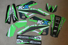 FLU  DESIGNS  PTS KAWASAKI TEAM  GRAPHICS KX125 KX250  1999 2000 2001 2002