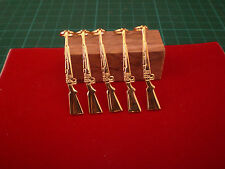 Chippendails Pack of 5 Slimline Pen Fancy Rifle Clips in Gold