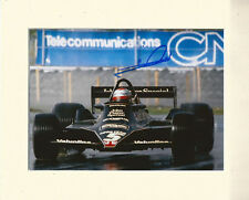 EMERSON FITTIPALDI FORMULA ONE F1 PP 10X8 MOUNTED SIGNED AUTOGRAPH PHOTO