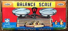 VINTAGE TOY SCALE BALANCE AND WEIGHTS ORIGINAL BOX