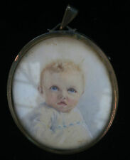***CUTE Baby Infant Painted Picture Portrait BOY?  - Signed Framed