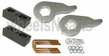 "Lift Kit Chevy 1992 - 99 K1500 Forged Torsion Keys & 2"" Cast Steel Blocks 6 Lug"