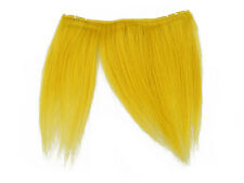 CLIP-IN HUMAN HAIR FRINGE BANGS CYBERLOX YELLOW UNCUT 8""