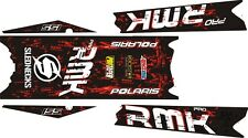 POLARIS RUSH PRO RMK  ASSAULT 144 155 163 STAR TOP & TUNNEL DECAL STICKER black